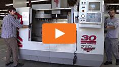 Umpositionierung einer CNC Maschine