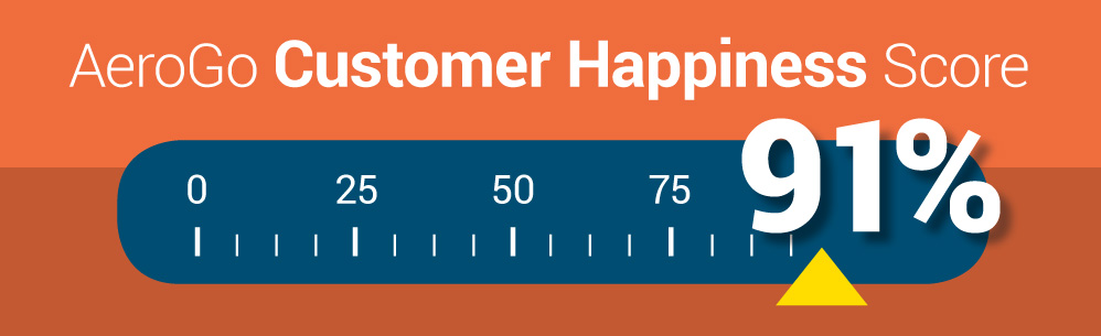 AeroGo Customer Happiness Score: 91%