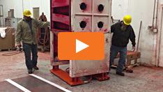 Automated Powder Coating using Aero-Planks, 2000 lbs.